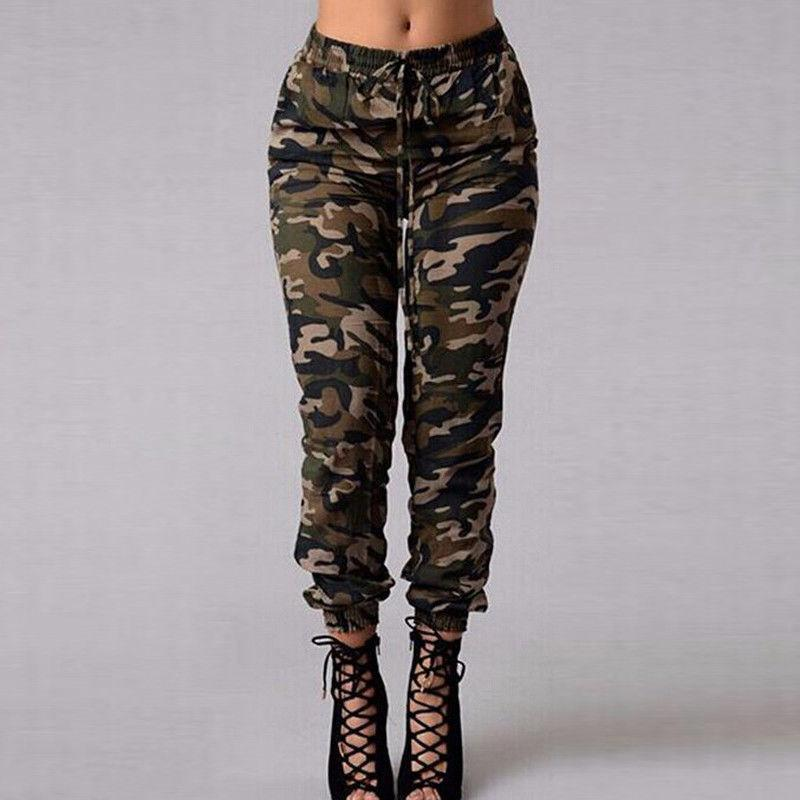 8131c6d8fff7a 2019 AU Women Camouflage Pants Camo Casual Cargo Joggers Army Harem Trousers  From Veilolive, $34.23 | DHgate.Com