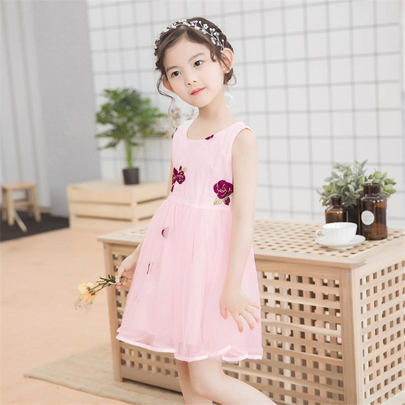 a52ac7a5a 2019 Baby Girl Summer Tutu Dress Flower Sleeveless Vest Princess Lace Dress  Embroidery Outfits Wedding Party Birthday Chic Dress From Guccicloth