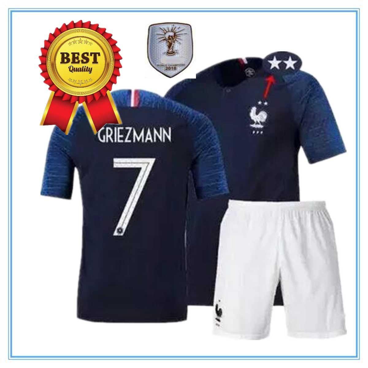 5f559665e 2019 Adult Full Kit 2018 MBAPPE Soccer Jersey POGBA Football Shirt ...