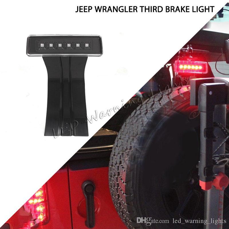 10pcs Hot sale LED tail light 12V high mount stop lamp third brake lightfor  Jeep Wrangler TJ JK 2007-2015