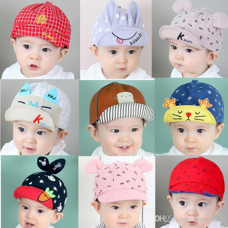 d2c721a975a2 2019 Fashion Cat Baby Hats Unisex Girls Boys Baseball Caps Beanie ...