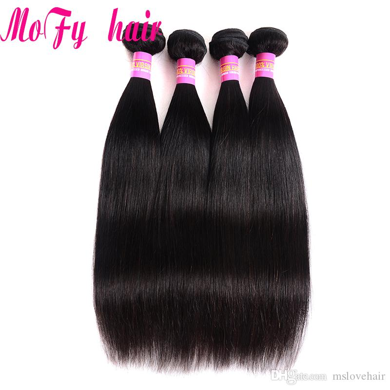 Brazilian Virgin Hair Straight Unprocessed Peruvian Indian Malaysian Cambodian European Straight Remy Hair Weave Bundles Natural Color
