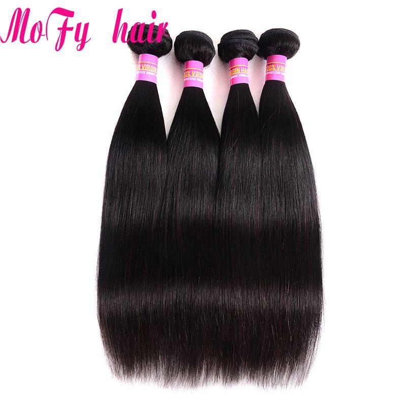 Unprocessed 8A Virgin Brazilian Human Hair Weaves Bundles Malaysian Mongolian Cambodian Indian Peruvian Straight Remy Mink Hair Extensions