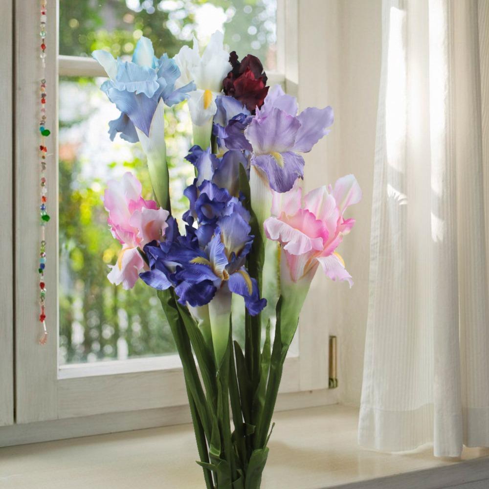 2018 silk artificial flower iris flowers wedding party home decor 2018 silk artificial flower iris flowers wedding party home decor diy 68cm 27 from winwood 3038 dhgate izmirmasajfo