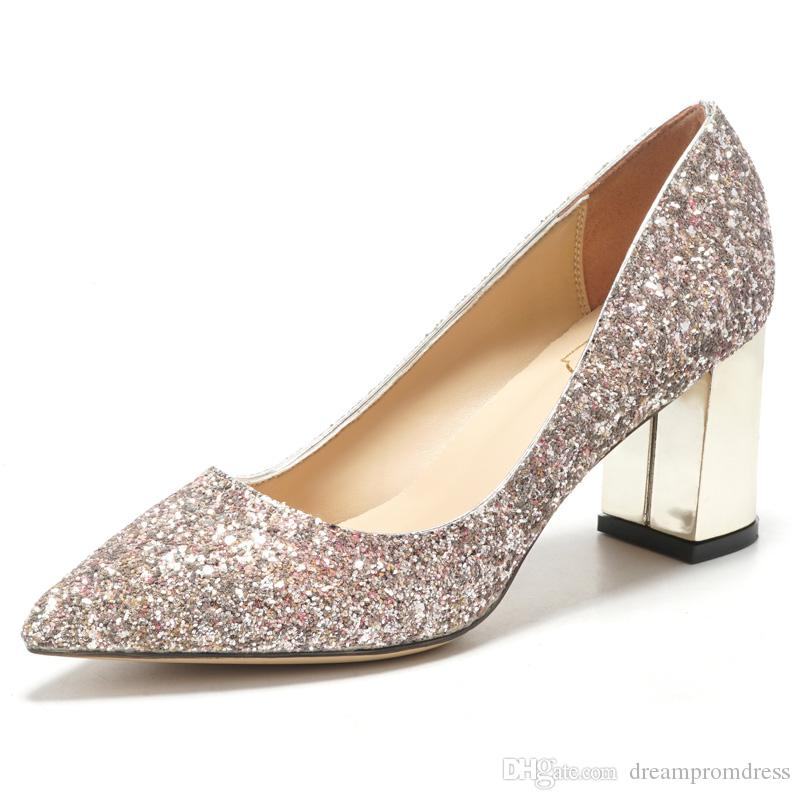 Comfortable Wedding Shoes With Sequined Bridal Crystal Lighter Shoes ...
