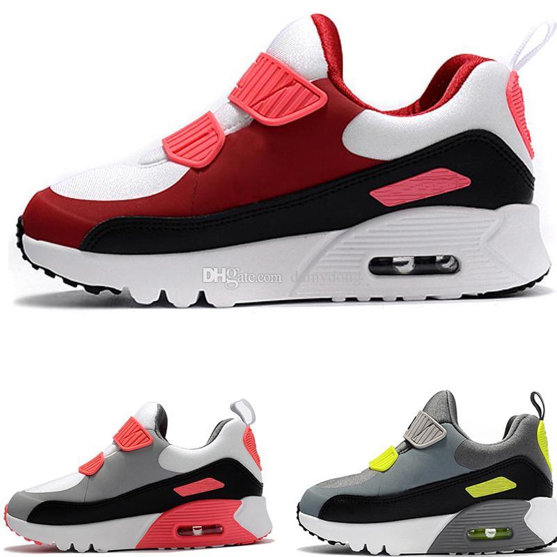 Großhandel Nike Air Max 90 2019 Kinder Turnschuhe Presto 90 Kinder Sport Orthopädische Jugend Kinder Trainer Infant Mädchen Jungen Outdoor Schuhe 9
