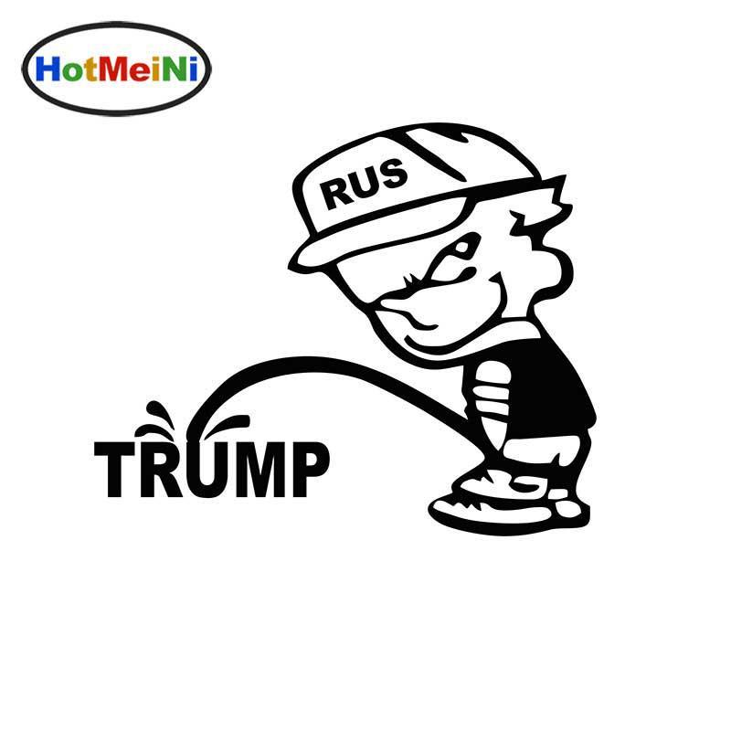 2018 hotmeini wholesale funny rus bad boy pee piss trump car sticker truck window bumper door and all the smooth surface vinyl decalfrom guangguang1203