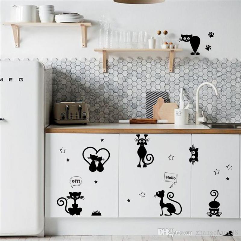 Lindo interruptor de luz do telefone adesivos de parede para quartos de crianças diy decoração de casa animais dos desenhos animados decalques de parede de vinil mural art ca-691