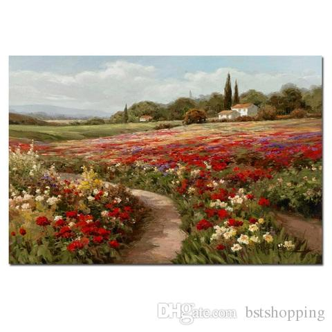 Claude Monet Poplars Poppy fields Handpainted & HD Print Impressionist Abstract Landscape Art Oil Painting On Canvas,Home Deco l203