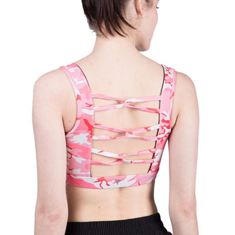 f5b2a225100e5 2018 Women S Running Wirefree Sports Bra Removable Pad Polyester Sweat  Wicking Breathable Backless Mesh Elastic Gym Fitness Yoga Bra From  Shanquanwat