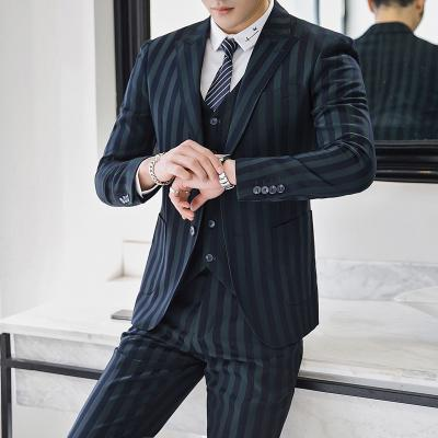 6b67f4aa86 2019 Suits Men Tuxedo Retro Tweed Green Striped Designer Formal Wedding  Suits For Men Slim Fit Plus Size 5XL MAUCHLEY 2018 From Hoeasy, $223.69 |  DHgate.Com