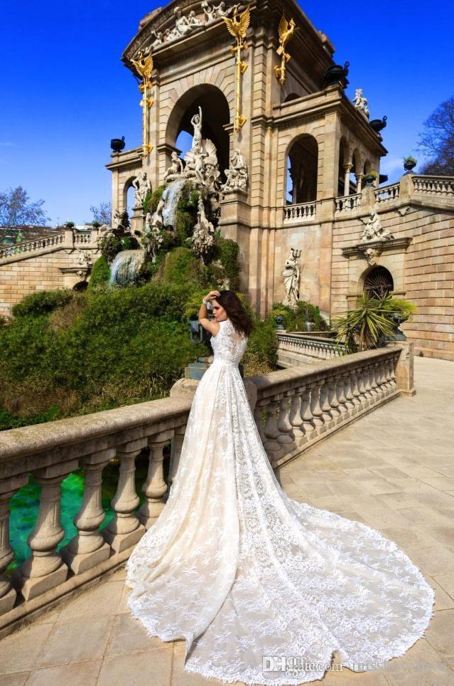 2018 robes de mariée sirène de dentelle sans bretelles amovible veste perlé ceinture de mariage robes de mariée avec sur la jupe BA6098