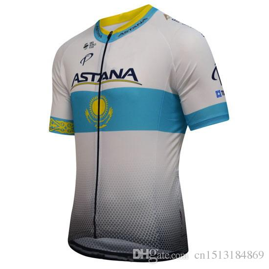 59ce88fc0bb UCI 2018 Pro Team Astana Short Sleeve Cycling Jersey Ropa Ciclismo Bicycle  Top Clothing MTB Bike Cycling Shirt Sportswear Best T Shirts Cycling Socks  From ...