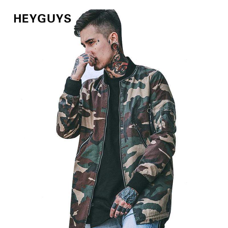 46c7dea61cf37 HEYGUYS 2018 High Street Europe Street Camo Jacket Hip Hop Suit Pullover  Winter Jacket Men Coat Fashion Men Casual Jacekts D18100806 Outerwear Mens  Top ...
