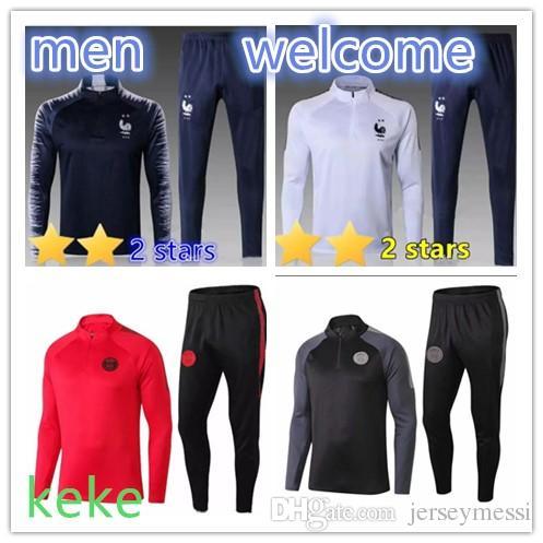 ca3082c9db12 PSG Tracksuit New 2018 2019 Paris Soccer Training Suit Tracksuits 18 ...