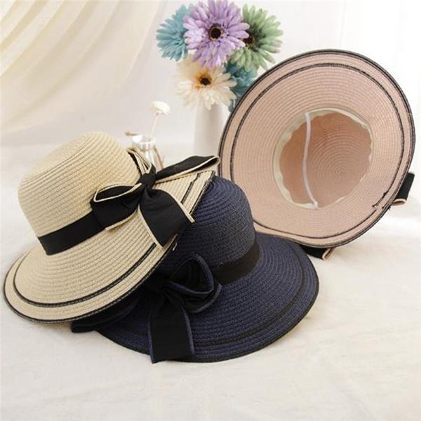 Men Women Straw Panama Hat Sombrero Fedora Trilby Cap Wide Brim Sunbonnet  Sunhat Beach Hat Church Hats From Participant a5e76ad9f7fb