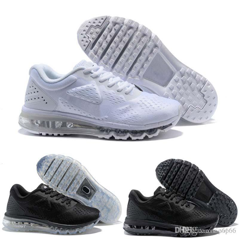best cheap 4f449 2396b 2019 Running Shoes Air Cushion Trainers Men Shoes for sale Black White  Sport Shock Women Jogging Walking Hiking Athletic Outdoor Sneakers