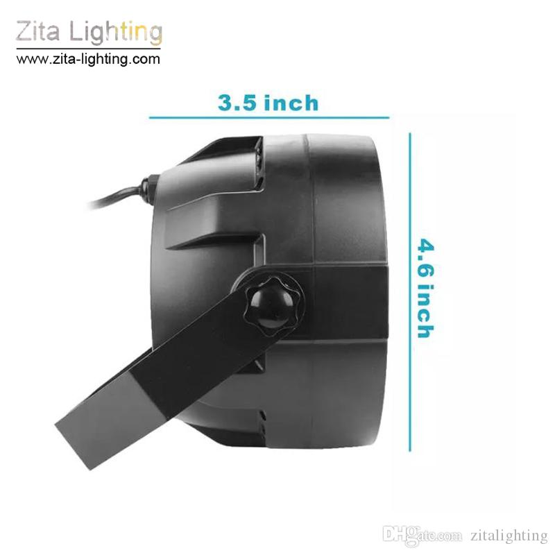 Zita Lighting NEW 12W RGBW Stage Lighting With DMX Model 12 Led Par Lights Voice Activated Disco Christmas Light For DJ Stage Party