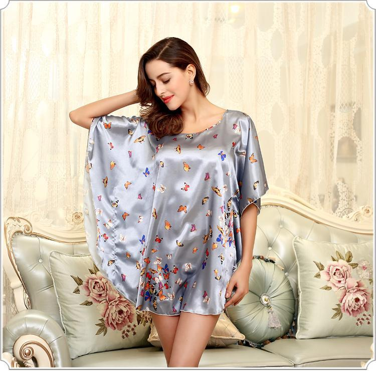 2019 Sexy Silk Bath Robe Women Nightshirt Milk Silk Special Sleep ... 6ee3232e6