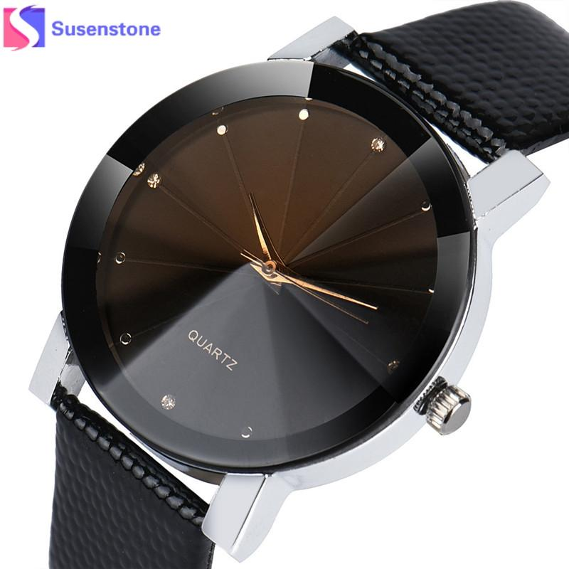 a6a3878c5ac0d Luxury Unisex Men Women Watch Business Quartz Sport Military Watch  Stainless Steel Dial Clock Leather Band Relogio Feminino High Quality  Feminino China ...