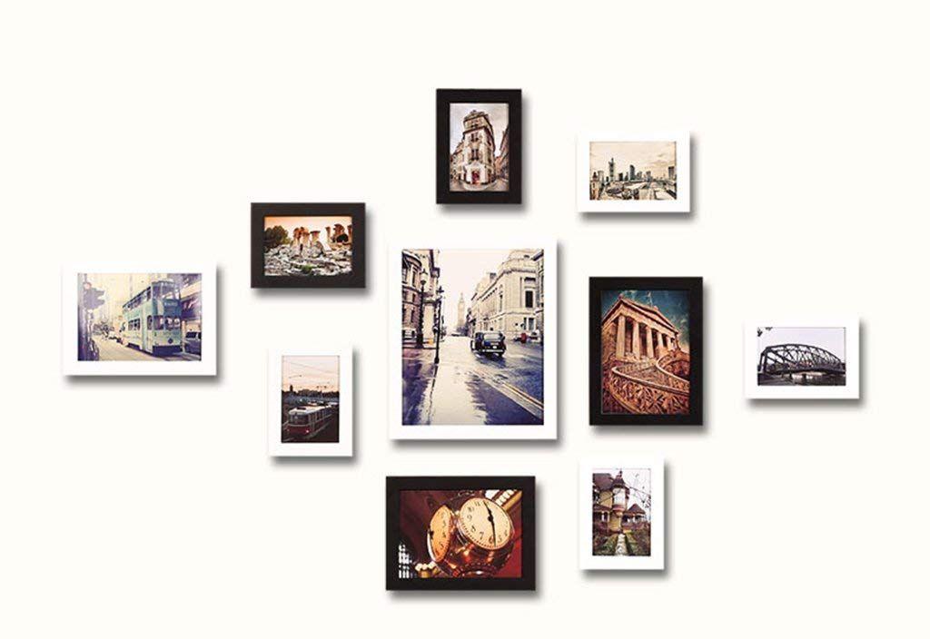 Photo Wall, Pine Rectangular Free Combination Photo Frame (10 Packs),  Estimated Area Of 113 * 72cm