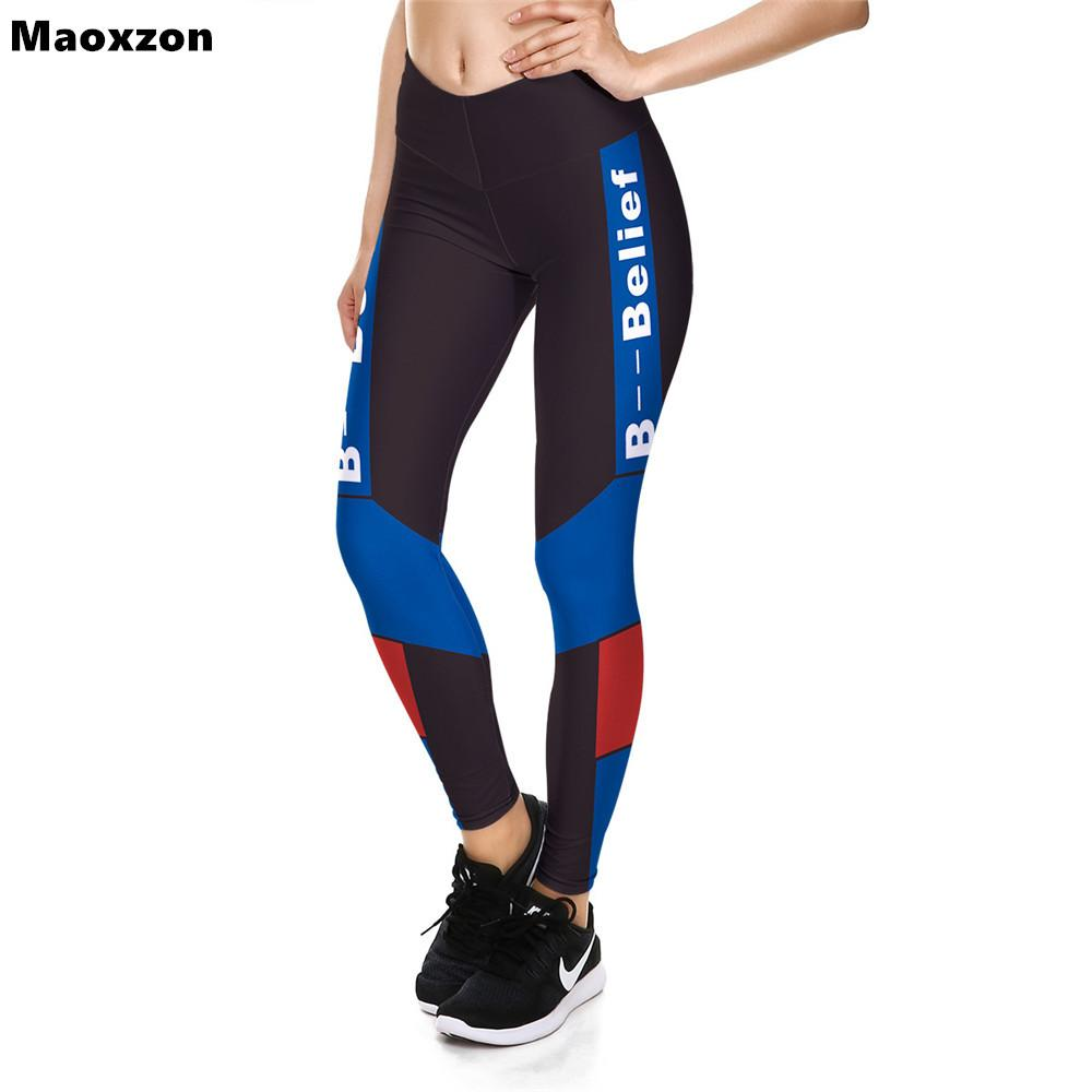 Maoxzon Womens High Waist Sexy Fitness Slim Leggings Trousers For Female Print Workout Jogger Ioga Elastic Skinny Pants XS-XL