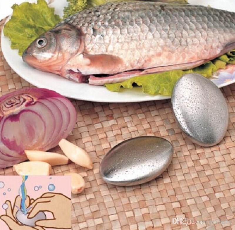 Ovale Form Edelstahl Seife Magie Geruchsbeseitigung Reinigung Kitchen Bar Hand Chef Geruchsentferner Klein
