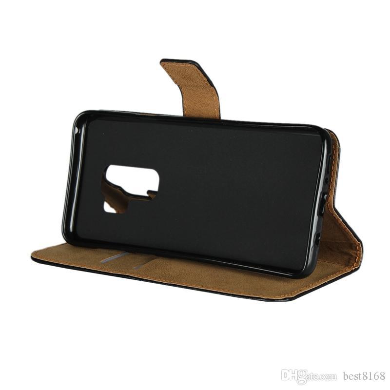 Orijinal Gerçek Gerçek Deri Cüzdan Kılıf Iphone XR XS MAX X 8 7 6 6 S SE 5 5 S Galaxy S9 S8 S7 Kenar Not 9 8 KIMLIK Kredi Kartı PC Kapak kapak