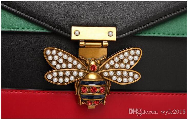 VENTE CHAUDE 2019 Femmes Couleur épissage Petite Abeille Sacs De Mode Zipper Designer Sac À Main Casual Épaule Messenger Sac Nouveau Sac Femme