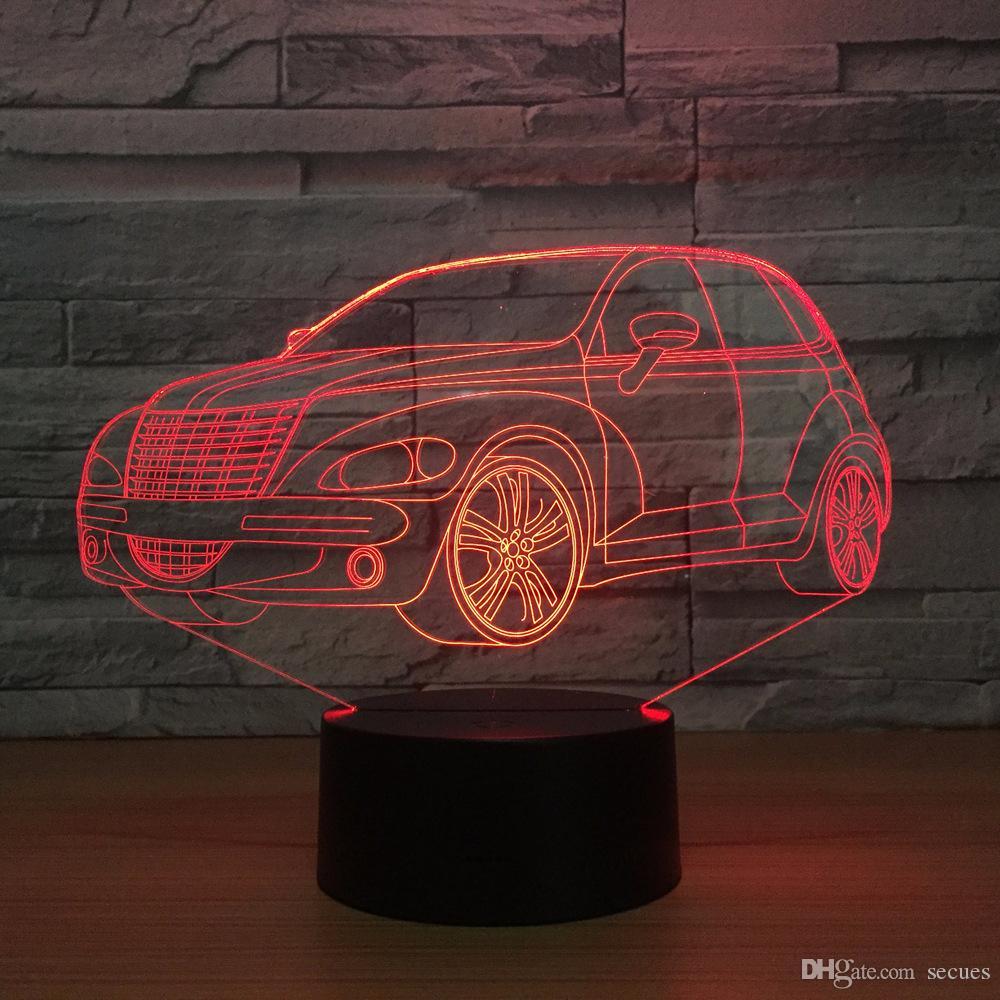 SUV Voiture 3D Illusion Optique Lampe Veilleuse DC 5V USB Alimenté Batterie En Gros Dropshipping Shippin Gratuit