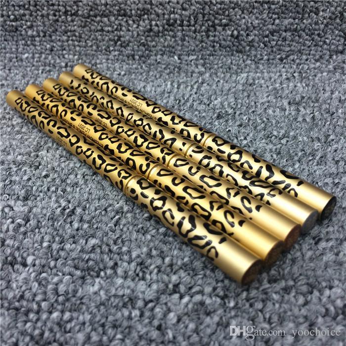 Леопард Женщины Брови Водонепроницаемый Черный Коричневый Серый Карандаш С Кистью Для Макияжа Подводка Для Глаз 5 цветов на ваш выбор Бесплатная DHL 120 шт.