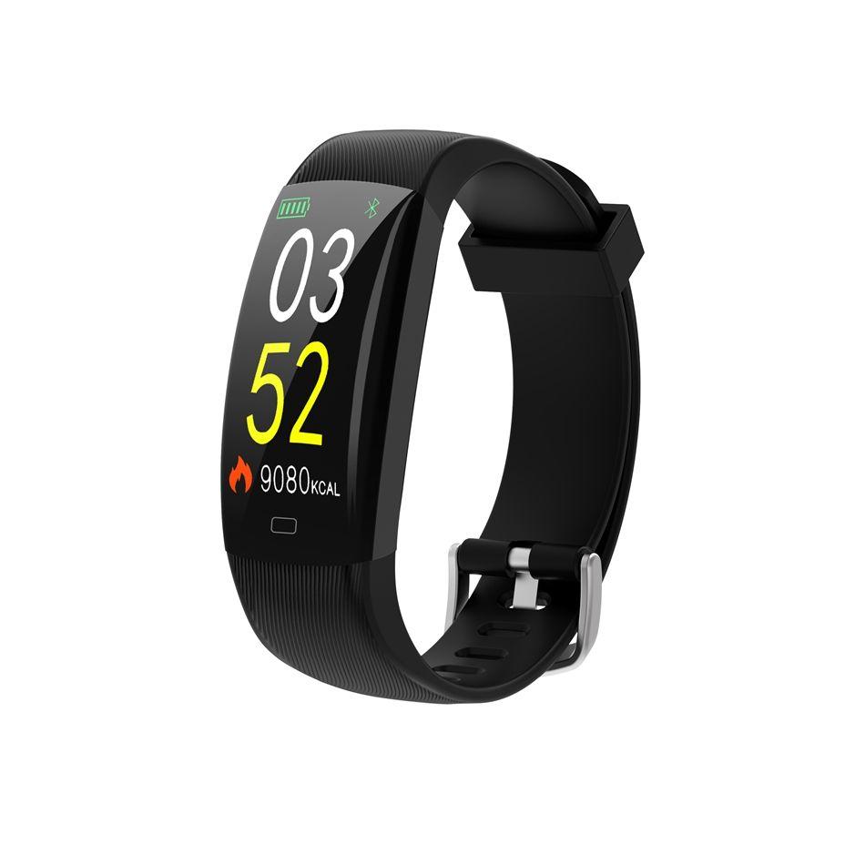 bakeey f64c big screeen smartband heart rate monitoring smart