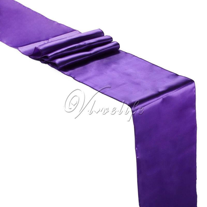 Purple Satin Table Runner 12 X 108 Wedding Party Home Hotel Table Decor  Suppies 30x275cm Easter Table Runner Easter Table Runners From Shutie, ...