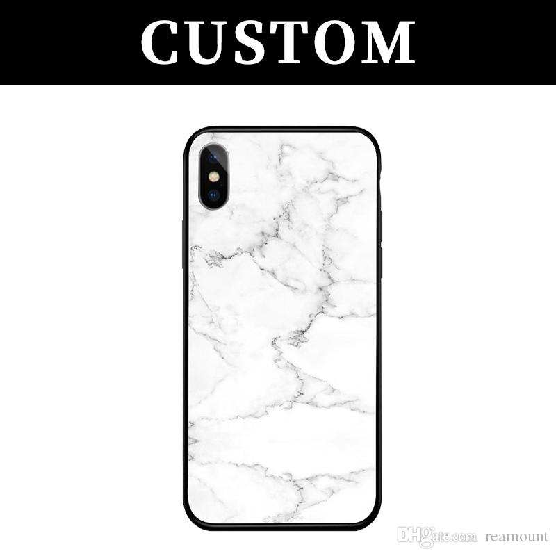 best website 752db a3b20 Customization Case for iPhone X 8 7 6 6s plus Tempered Glass Custom-made  Back Case Funda Cover Design Your Own Photo