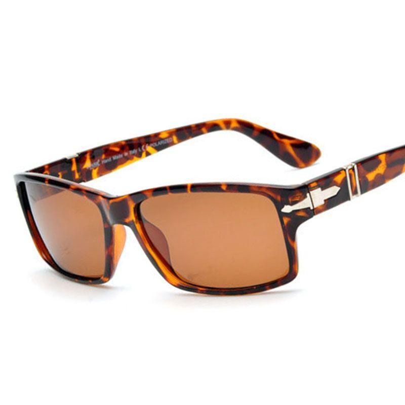 63768b0ebd78d Compre 2018 Retro Polarized Óculos De Sol Dos Homens Condução Tom Cruise  James Bond Óculos De Sol Da Marca De Design Retângulo Eyewear Para As  Mulheres De ...
