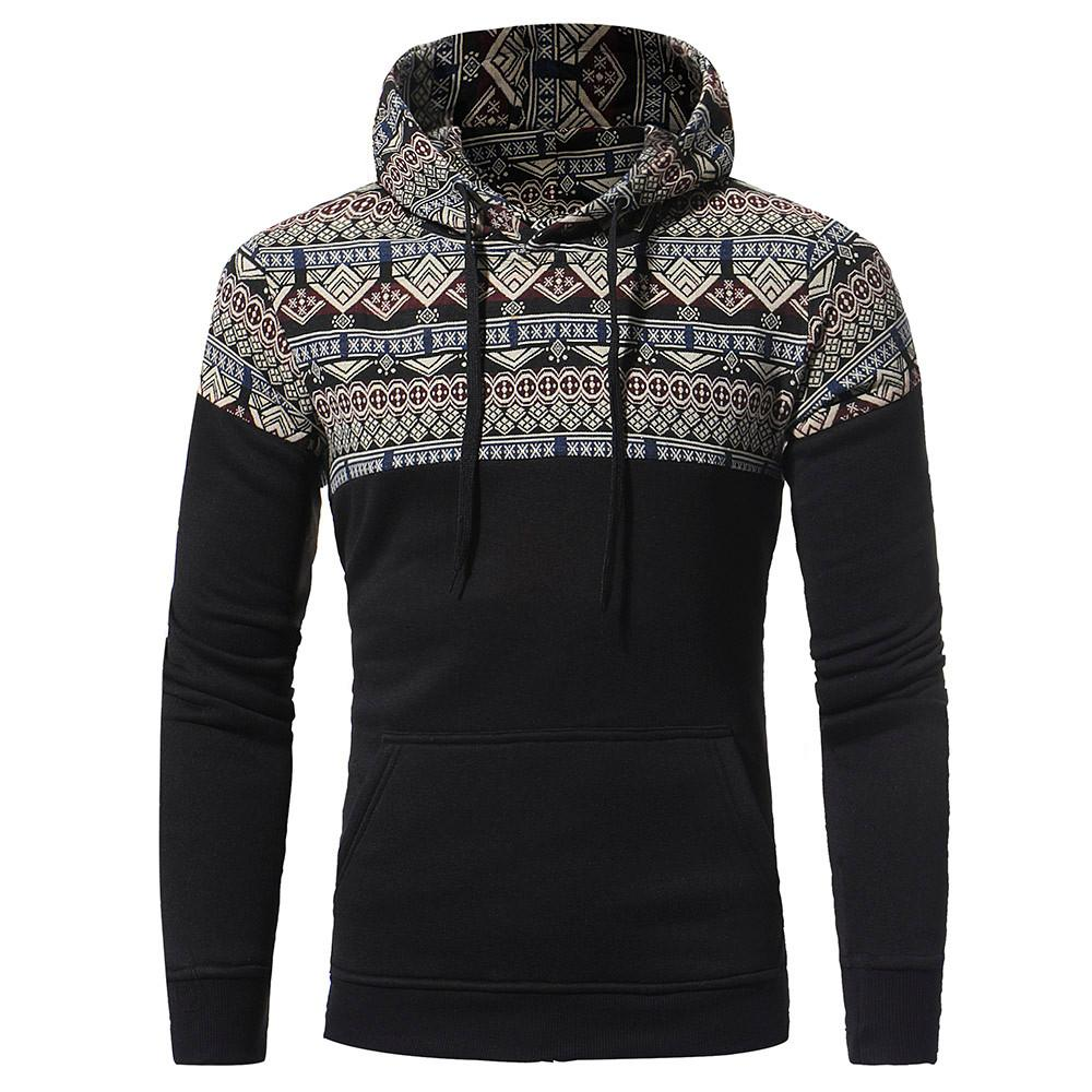 26fcf349a6d9 Hoodies Sweatshirts Mens Retro Long Sleeve Stitching Hoodie Hooded Tops  Loose Stylish Winter Pullover Hipster Drawstring Mens Hoodies   Sweatshirts  Cheap ...