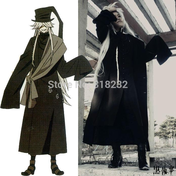 Black Butler Kuroshitsuji Undertaker Outwear Coat Jacket Greatcoat