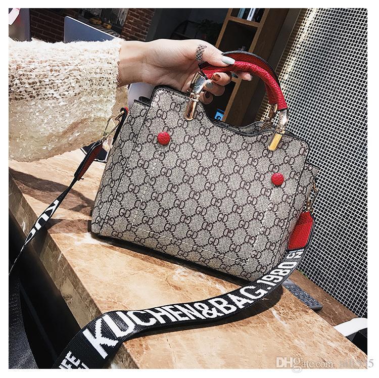 2e9e198e1e0f 2018 New Fashion Tote Bags Letters Messenger Bags Wide Strap ...