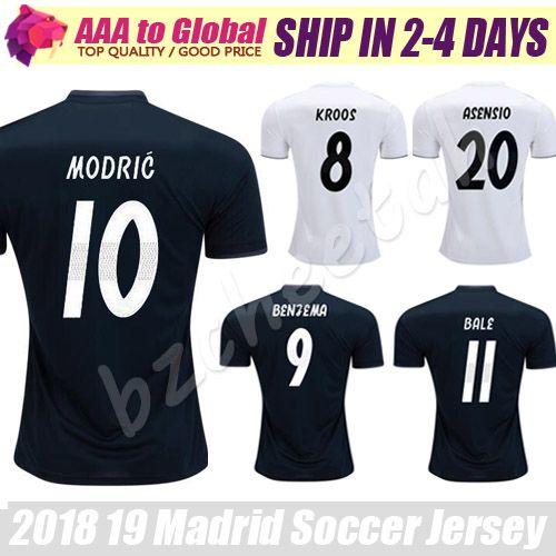 4ff93e3a7f Madrid Soccer Jersey 2019 Camiseta De Futbol Modric Bale Sergio ...
