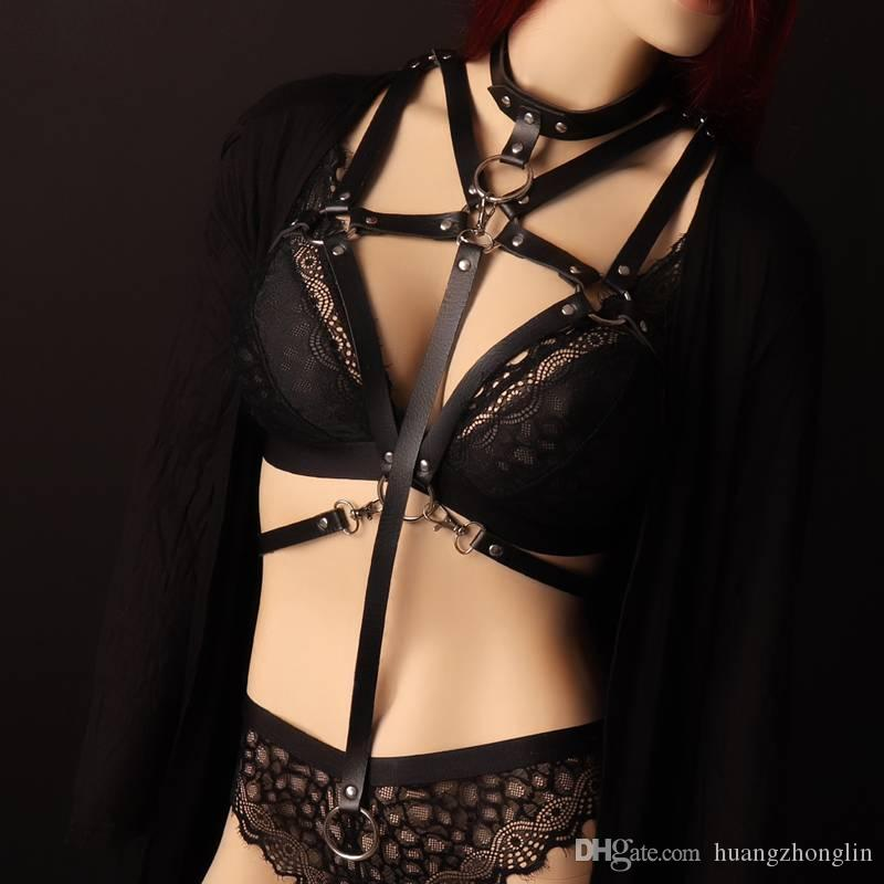 04ff352650 2019 Summer Leather Women Harness Caged Bra Exotic Sexy Lingerie Cosplay  Bondage Gothic Lingerie Bralette For Prom Dresses From Huangzhonglin