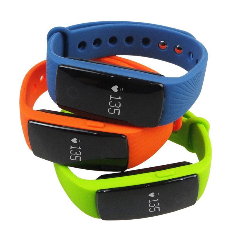 ID107 Pour Iphone X Bracelet Smart Tracker D'activité Smart Watch Bluetooth Smart WristBands Avec Bouton En Métal Moniteur de Fréquence Cardiaque Avec Paquet
