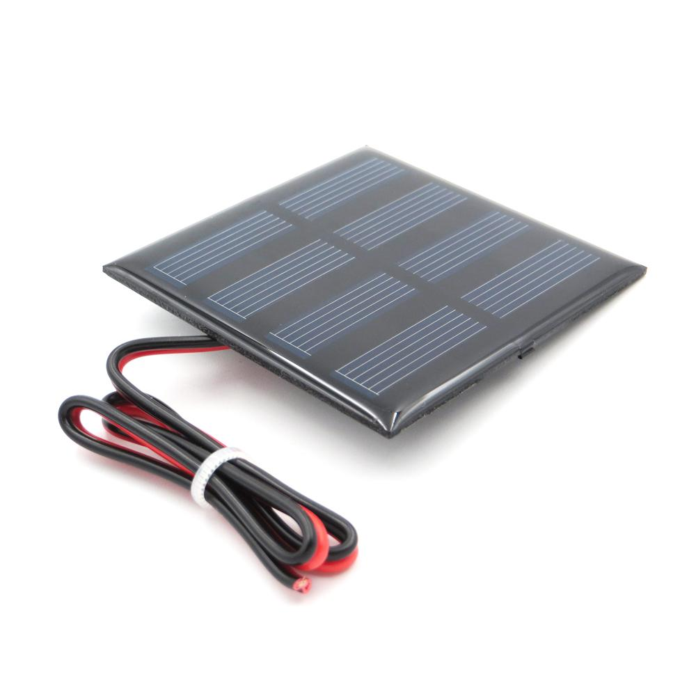 X 2v 150ma With 30cm Extend Cable Solar Panel Polycrystalline Cell Wiring Silicon Diy Battery Charger Module Mini Wire Toy 5 Watt 80