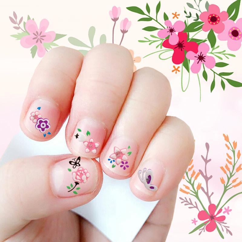 Nail Art Stickers Water Transfers Decals Flower Ice Cream Children