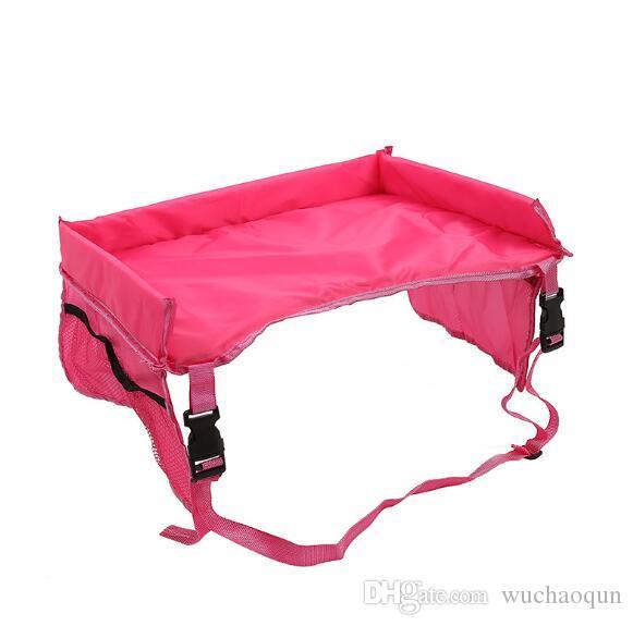 es para bebés y niños pequeños Cinturón de seguridad del coche Bandeja de viaje Mesa plegable a prueba de agua Bebé Cubierta de asiento de coche Arnés Cochecito Cochecito para niños Snack