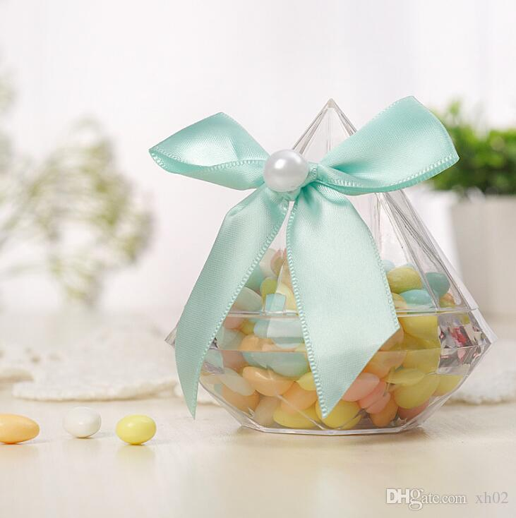 Clear Diamond Boxes Candy Box Wedding Favor Gift Box Transparent