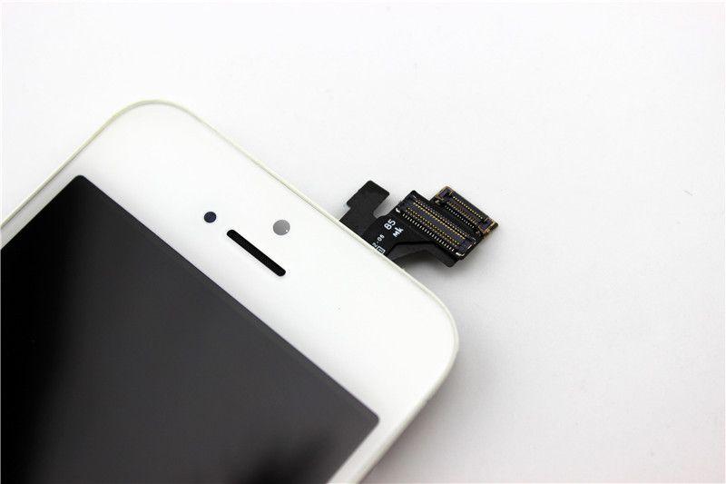 De alta qualidade para iphone 5c display lcd touch screen digitador assembléia completa para iphone 5 5g 5s se lcd quadro cola fria