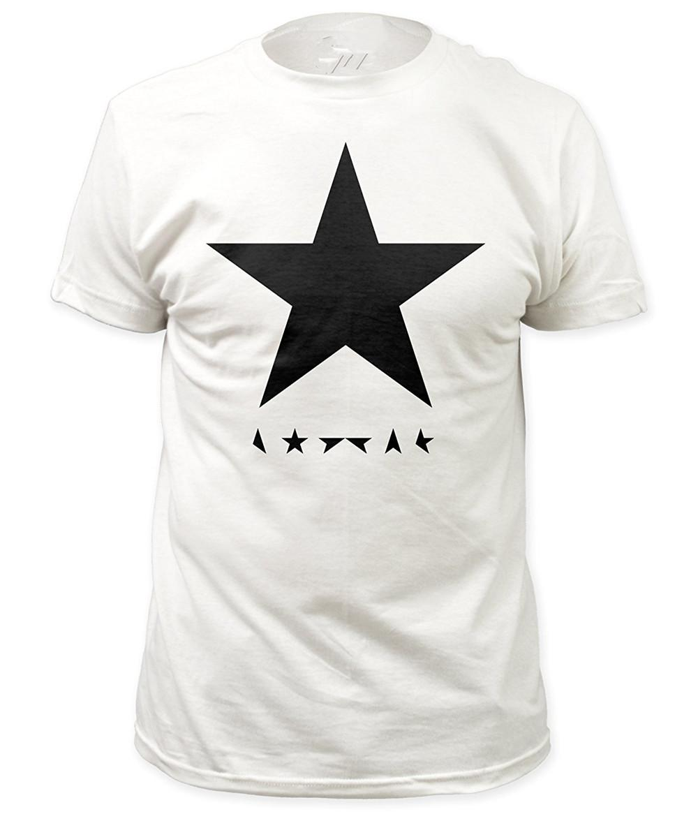 Cool T Shirts Designs Mens David Bowie Blackstar Crew Neck Short