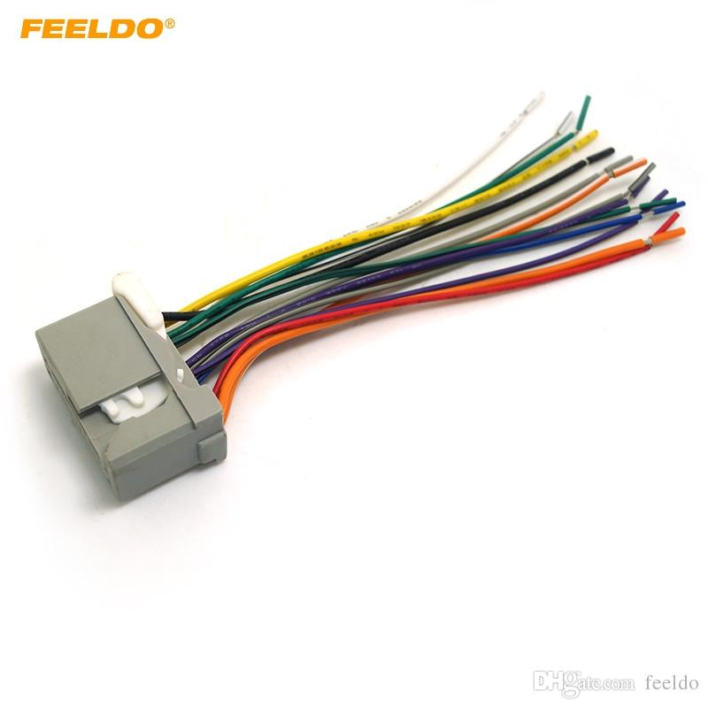 2019 feeldo car audio stereo wiring harness for honda accord/crosstour/civic/crv/fit/odyssey/pilot  pluging into oem factory radio cd #2534 from feeldo,