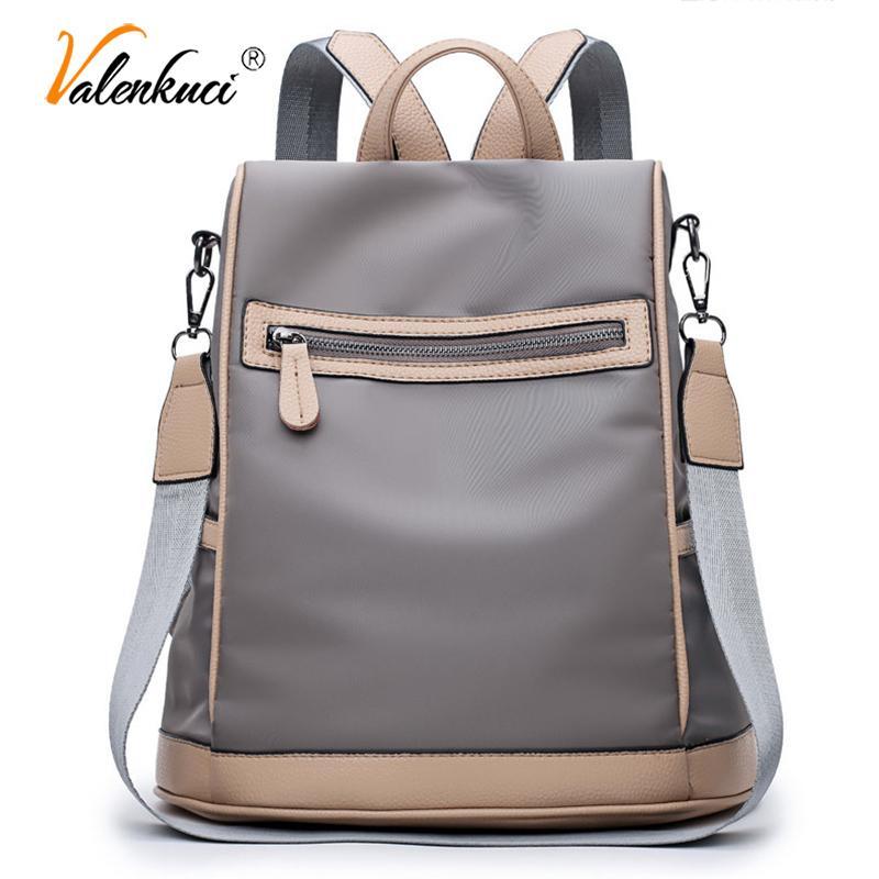 d6dd20a48d Valenkuci New Women s Bag Fashion Nylon Waterproof Backpack Women ...