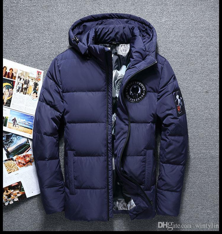 b387a7a8b Winter Big Hooded Duck Down Jackets Men Warm High Quality Down Coats Male  Casual Winter Outerwer Down Parkas 130wy